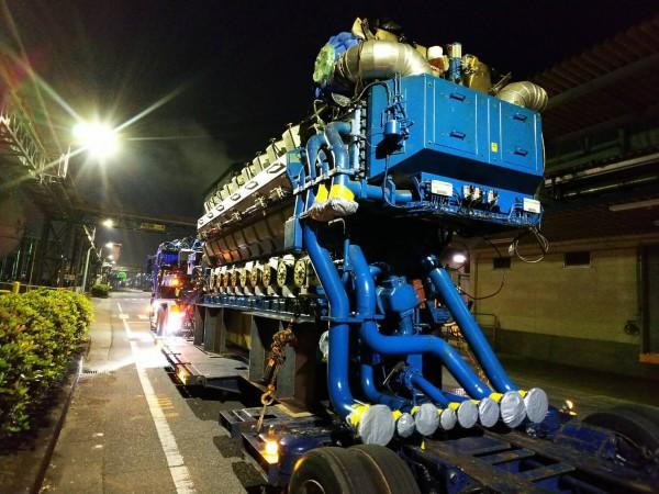 大型発電機 搬出工事