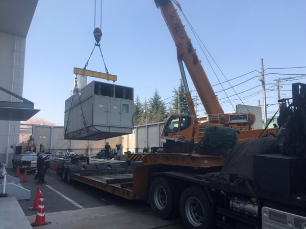 大型発電機 2台 撤去工事