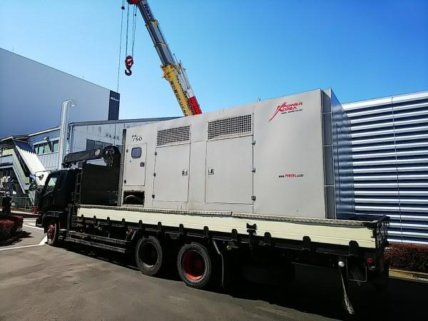 韓国製発電機 750KVA